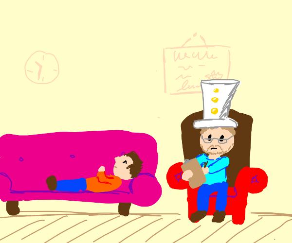 Psychologist wearing a Hat