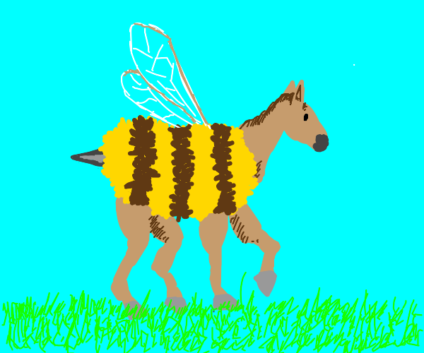 Horse Fused with a Bee