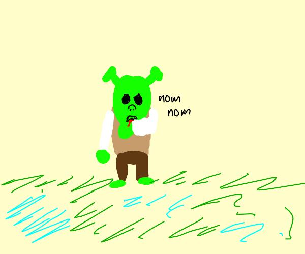 Shrek eats himself