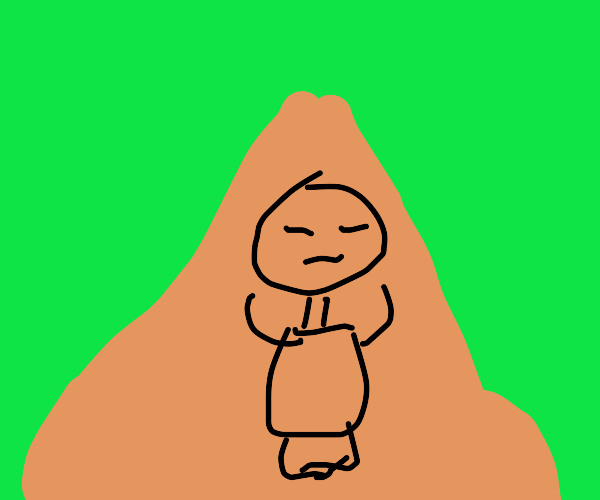 Monk on top of Mountain