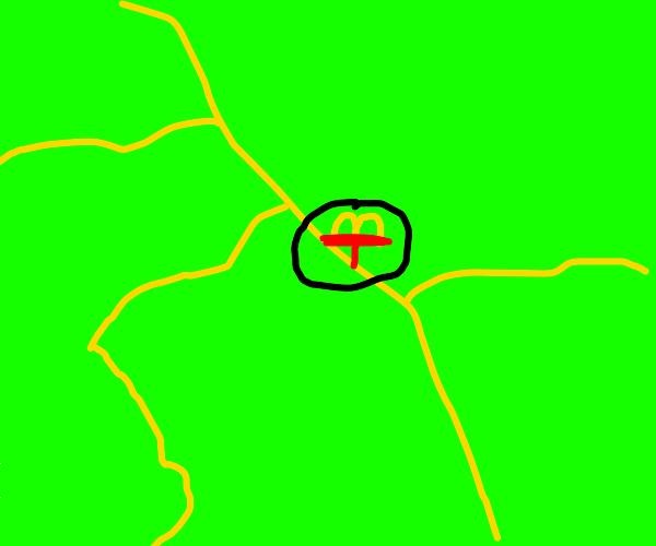 mcdonalds on a map
