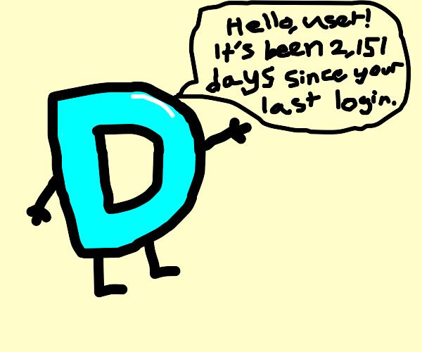 Drawception logo welcomes back returning user