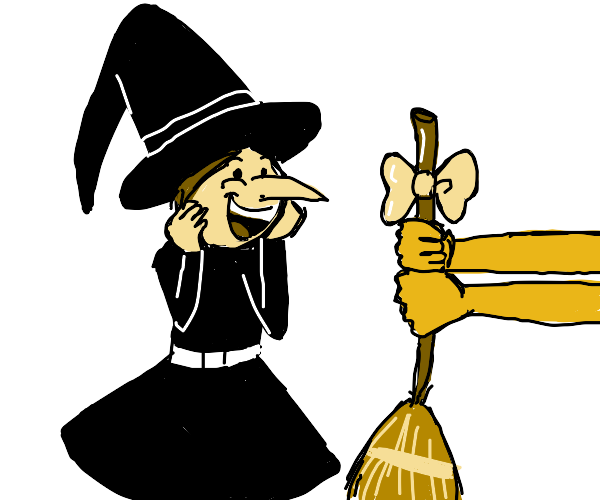 A Witch has received a Broom!