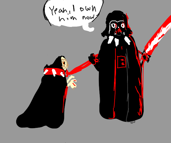 palpatine gets owned by darth vader