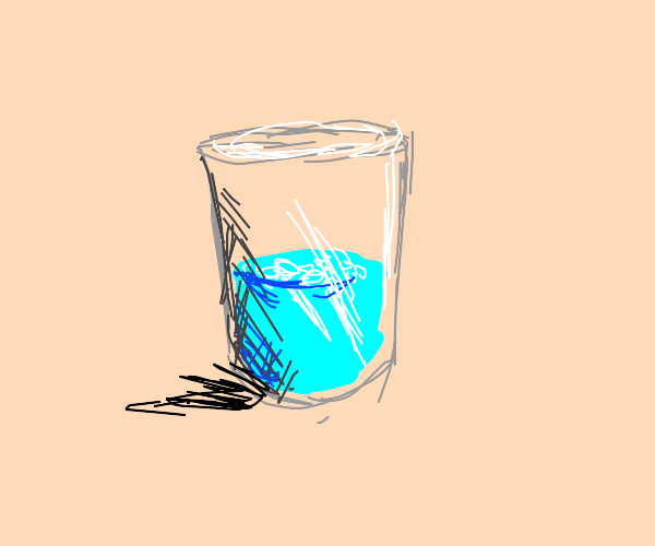 half way filled water glass