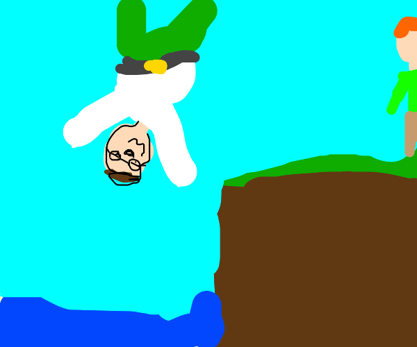 Peter Griffin goes cliff diving