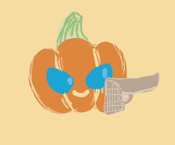 Pumpkin just bought a gun