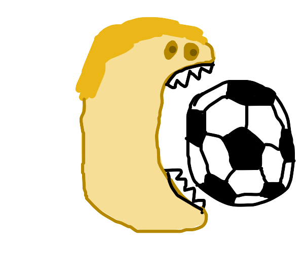 Eating with a Soccer Ball