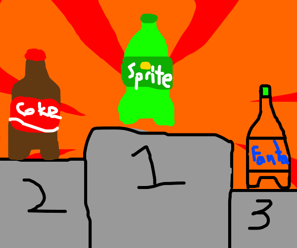 sprite wins against coke and fanta
