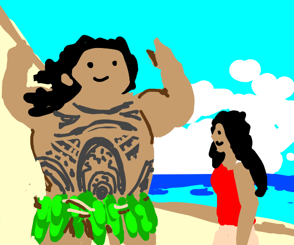 Maoi and Moana singing you're welcome