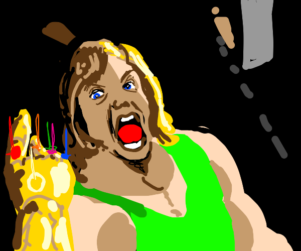 Shaggy with the infinity gauntlet