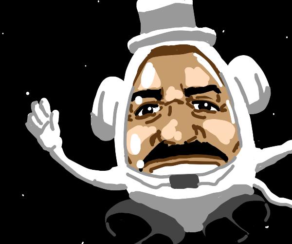 Mr. potato head is an astronaut