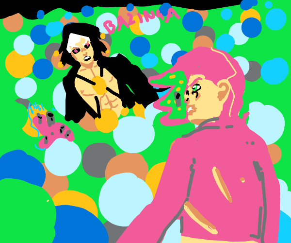 Man into the ballpit sees something metallic