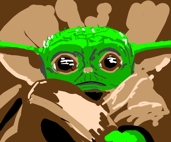 Baby Yoda is on a mission