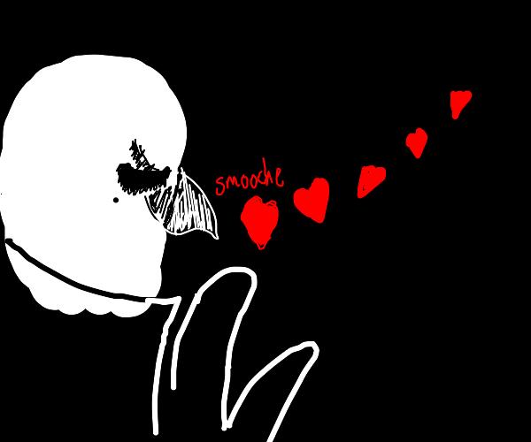 Ms. Washimi ( aggretsuko) blowing hearts