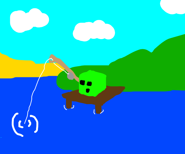 minecraft slime fishing