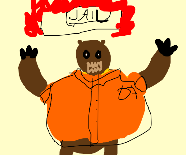 Bear breaks out of jail