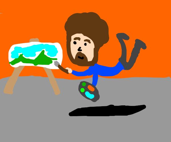 Anti-gravity Bob Ross