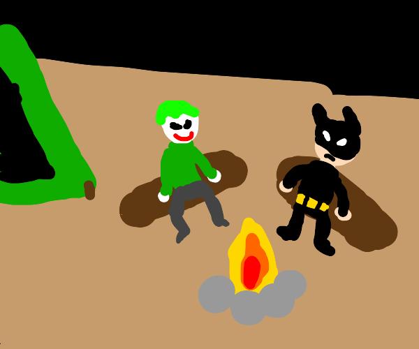 Batman & Joker camping