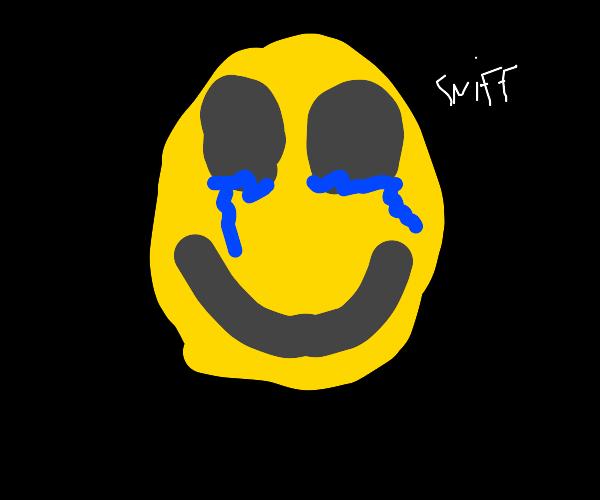 sad watery eyes emoji man