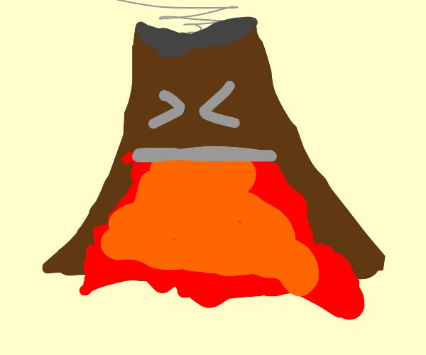 Volcano puking