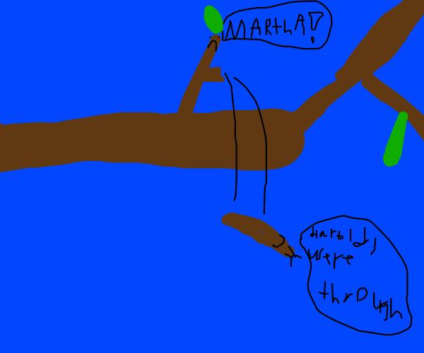 Twigs breaking up