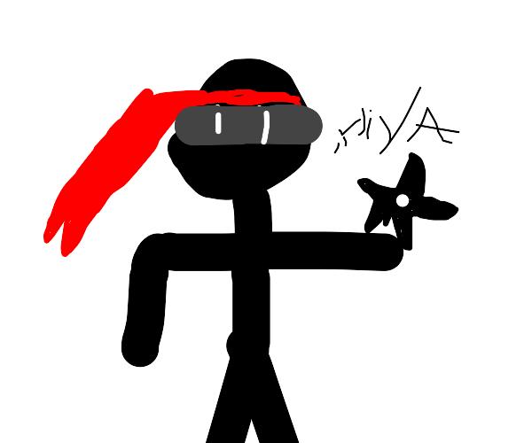 Ninja with ninja star