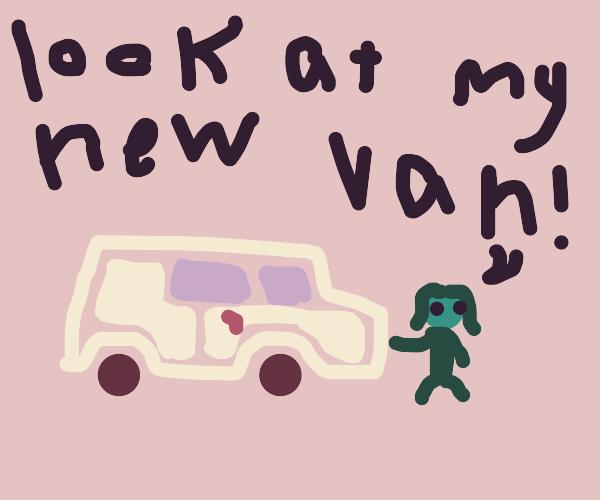 She boasts her new van