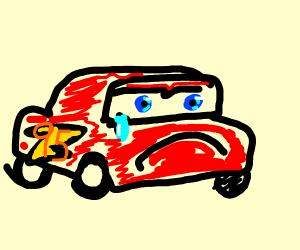 Sad lightning McQueen