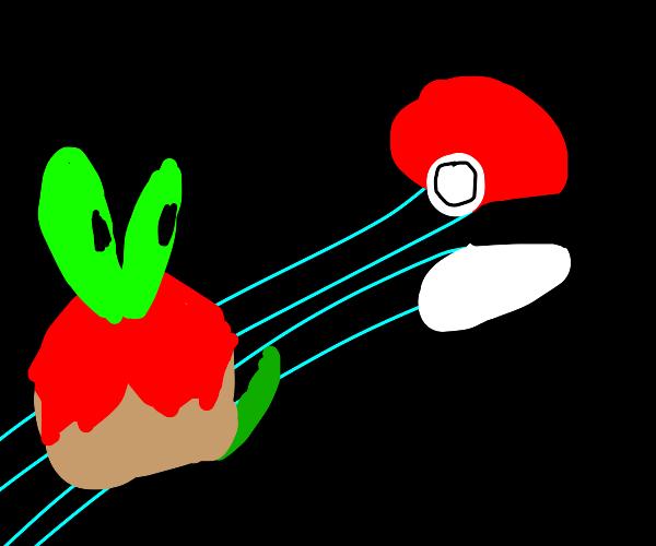 Pokeball catching Applin (New pokemon)