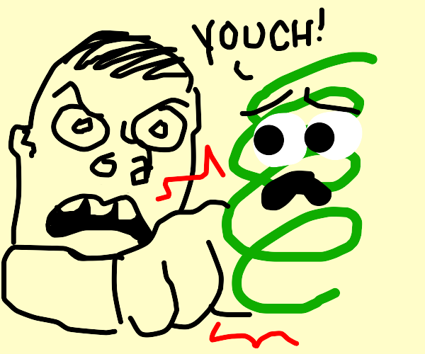 punching a sentient green coil