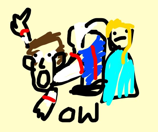 Hans (Frozen) getting a wedgie
