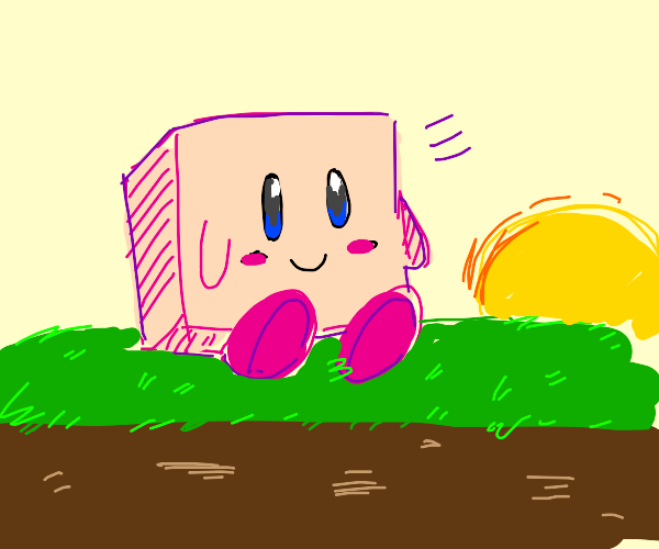 Kirby gone wrong, gone minecraft
