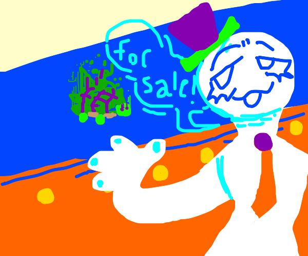"""Glitchy turtle fer' sale! Place yer' bids"""