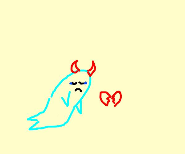 heartbroken fish demon