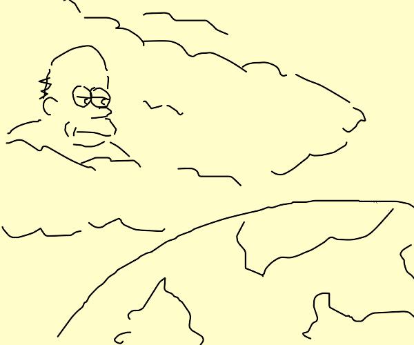 homer staring down at earth