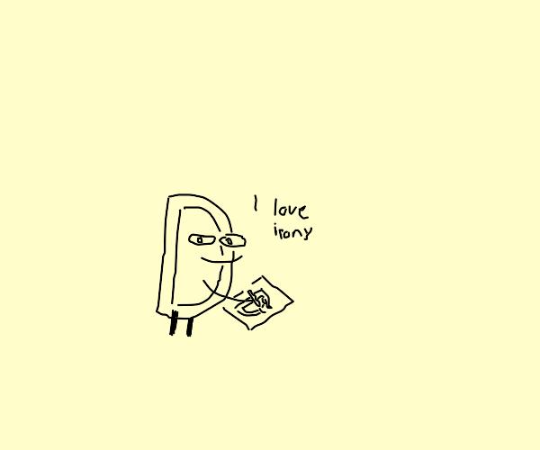 Drawception drawing on himself