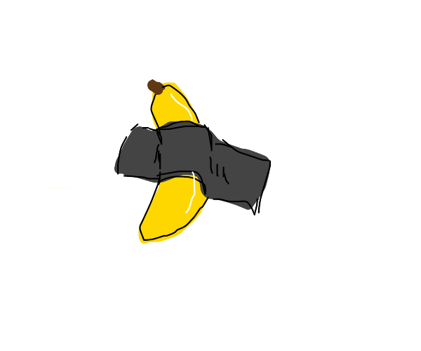 banana with tape