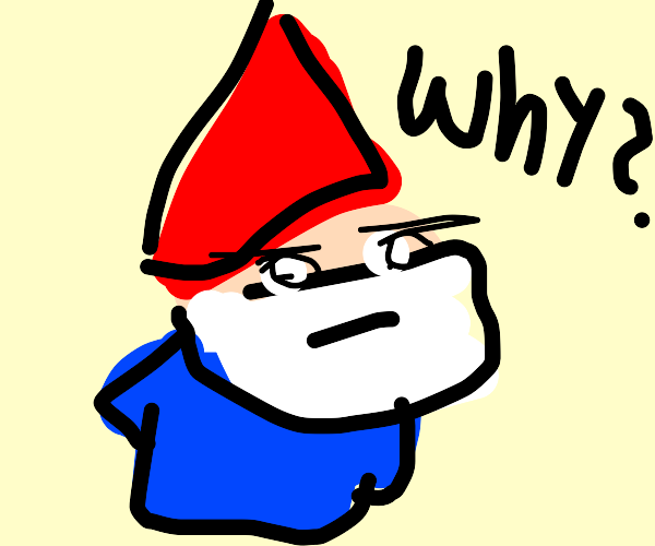 """""""but why?"""" said the gnome."""