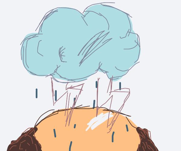 a storm on devito head