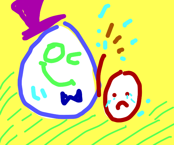 The mighty Egg Wizard and his less-mighty bro