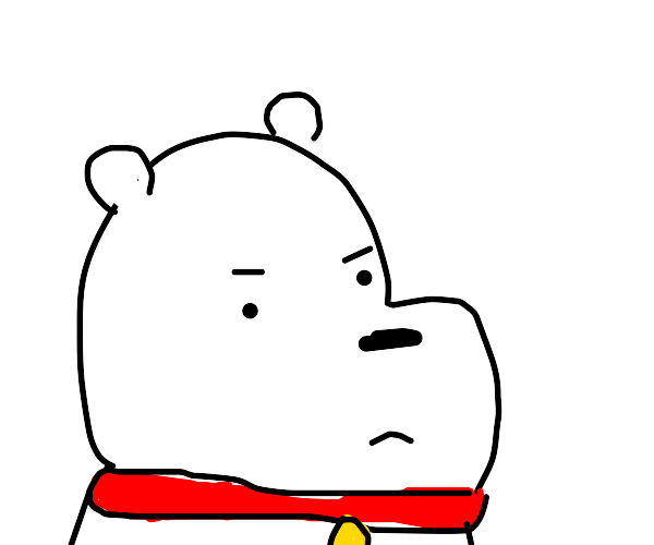 Polar bear's NOT happy to be wearing a collar