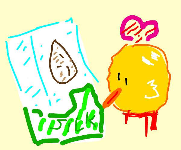 Almond milk & a chickens head