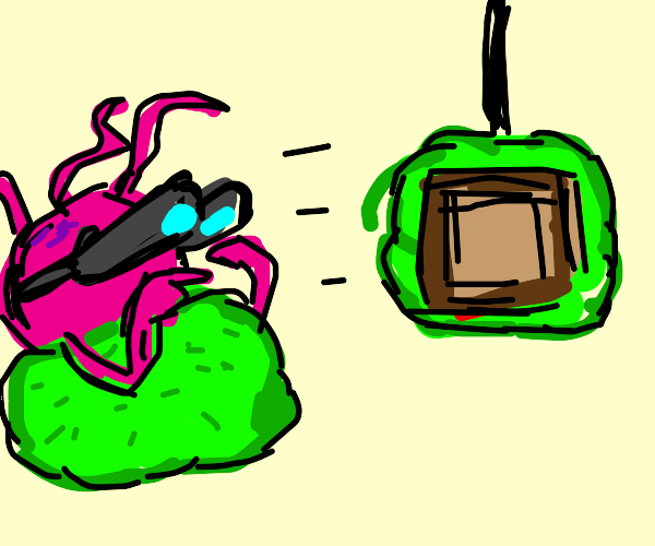 tentacle monster spectating meal