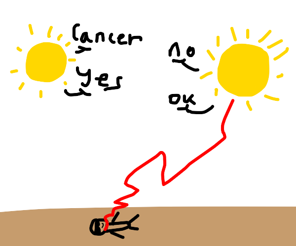 suns argue about giving a man laying cancer