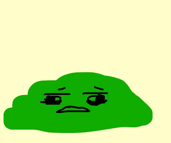 Distressed Green Blob