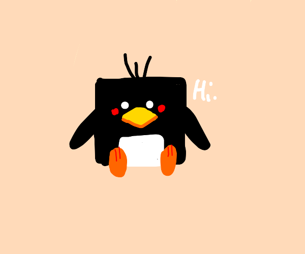 Cube penguin