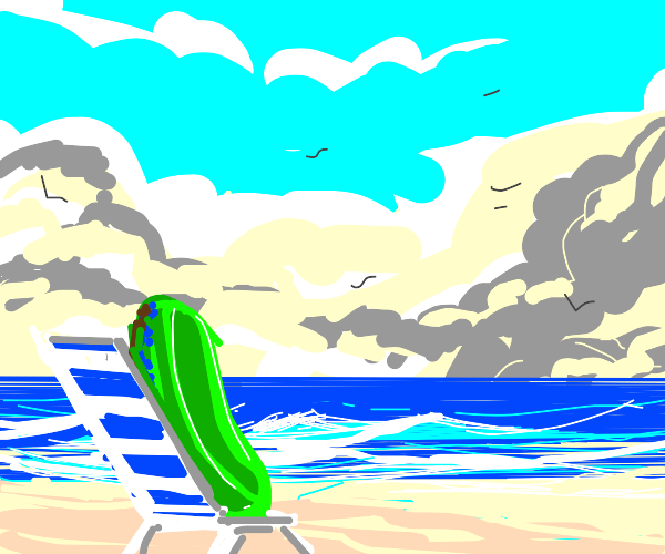 Pickle on the beach