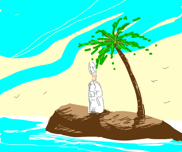 Pope stranded on island