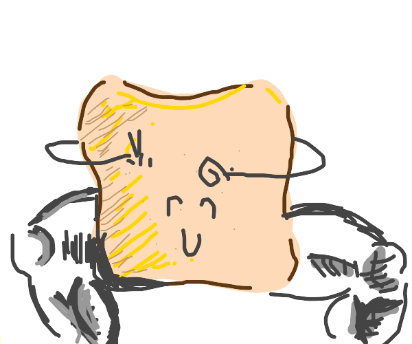 smiling toast with arms and legs